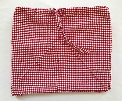 Pottery Barn Kids Extra Large Red Gingham Basket Liner XL