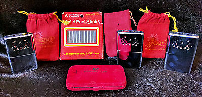 Small Vintage Collection 3 1960's jon-e Hand Warmers and fuel sticks!