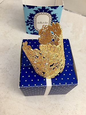Beautiful Stella & Dot Chantilly Lace Cuff - Gold Plated - NEW with Box