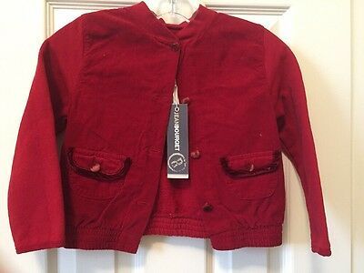 New with tags! Jean Bourget Girls Size 4 Red Jacket