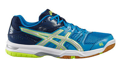 Asics Gel Rocket 7 - Men's Shoes - Blue/Yellow