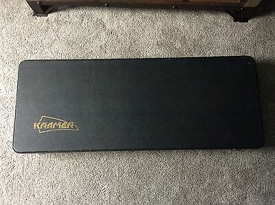 KRAMER ®  HARDSHELL  ELECTRIC GUITAR CASE BLACK '80's