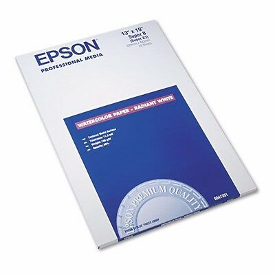 Epson Professional Media Watercolor Radiant White Paper S041351 15-1/2 Sheets