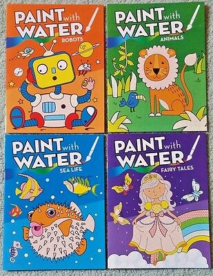NEW Kids Paint Water Book CHOICE Boys Girls No Mess Color Toddler Robots Animals
