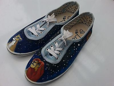Custom painted Lion King themed shoes size 8(UK Women's)