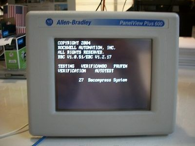 *Ships Today* Used Allen Bradley 2711P-T6C20D  Panelview Plus 600