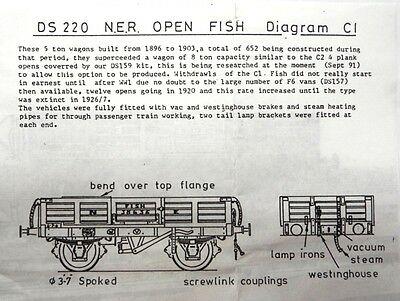 D&S Models DS220 - 4mm scale NER Open Fish Wagon Diagram C1 - New Unstarted kit