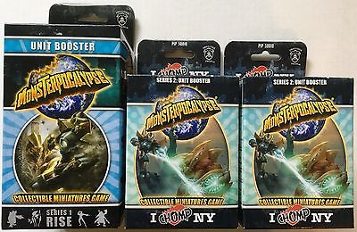 Monsterpocalypse Series 1 Rise Unit Booster & 2 Series 2 I Chomp NY Unit Booster