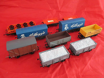 Collection of Train 00 Hornby, Dapol and Lima Trucks, Wagons, Carriages