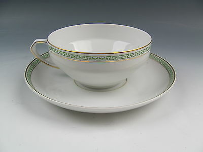 Heinrich - H+C China GREEK KEY GREEN Cup and Saucer Set(s) EXCELLENT