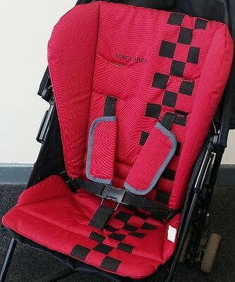 Maclaren MX3 Red Reversible Padded Pushchair Buggy Stroller Universal Seat Liner