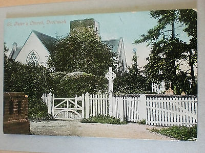 St Peter's Church Droitwich Worcestershire Edwardian Vintage Valentines Postcard