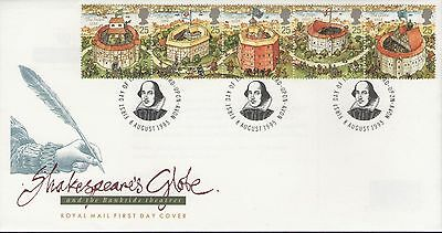 Shakespeares Globe 1995 Unaddressed Royal Mail First Day Cover Free P&p