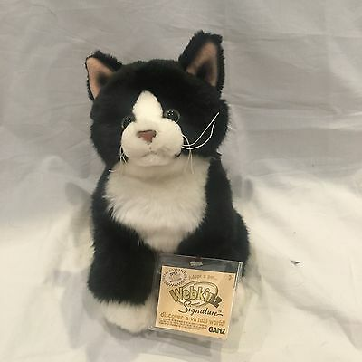 Webkinz Signature Tuxedo Cat WITH CODE New Condition