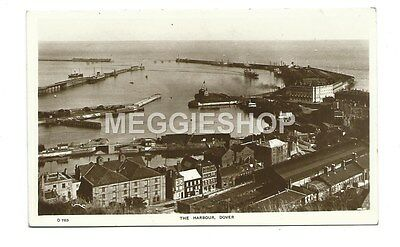 Kent : Dover : The Harbour - Old Real Photo Postcard
