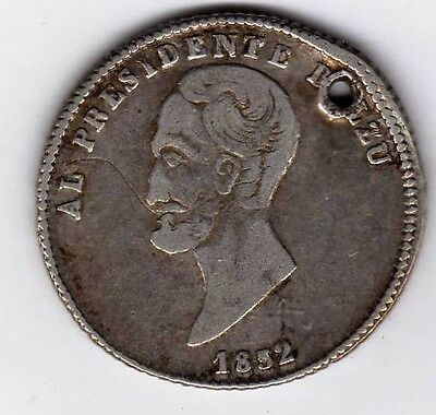 Bolivia proclamation coin: 1 sol, 1852; B51A1 and B51A2