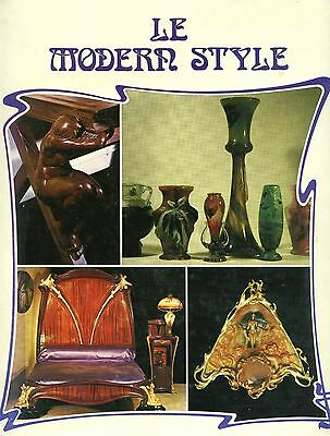 Art Nouveau Design - Glass Furniture, Jewelry Etc. / Illustrated Book (French Te