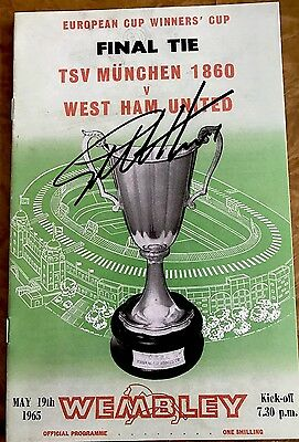 Sir Geoff Hurst Signed West Ham 65 Cup Winners Cup Final Prog