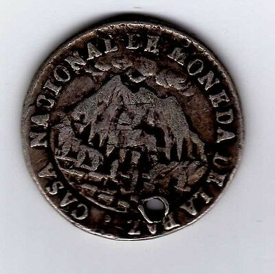 Bolivia proclamation coin: 1 sol 1853; B60A1
