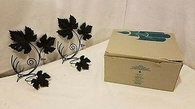 PartyLite Grape Leaf Sconce Set ~ RETIRED ~  Pre-Owned Condition ~
