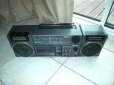 Vintage Philips Type D 8454 Stereo Radio Cassette Player Boombox - Working