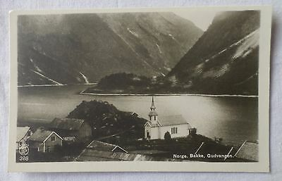 GUDVANGEN, NORWAY [Black & White Postcard]