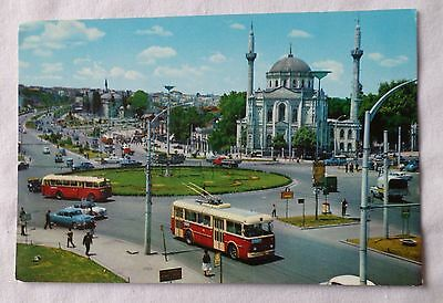 AKSARAY SQUARE & VALIDE MOSQUE, ISTANBUL [Colour Postcard]