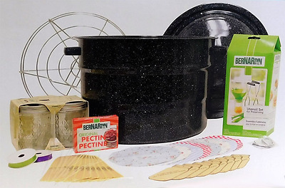 Canning Starter Kit New Bernardin 17 Pc Wth Enamel Canner Include 8 Pc Gift Kit