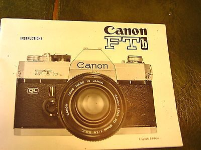 CANON FTb camera INSTRUCTION genuine MANUAL guide book