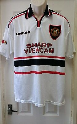 Classic Manchester United Away Football Shirt 1997-1999 Adults Large