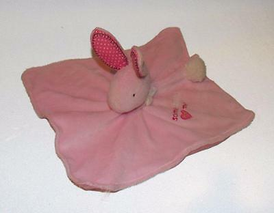 Carter's Pink Plush Bunny Security Blanket ~ Baby / Infant ~ Toddler lovey soft