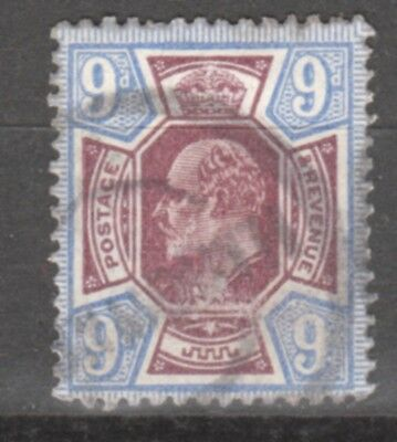 UK-GREAT BRITAIN-1902/1910-EDWARD VII- 9 P- BRUN &VIOLET-Y&T nr.115-used stamp