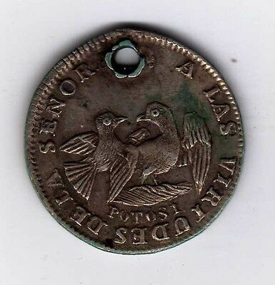 Bolivia proclamation coin: 1 sol, undated; B130