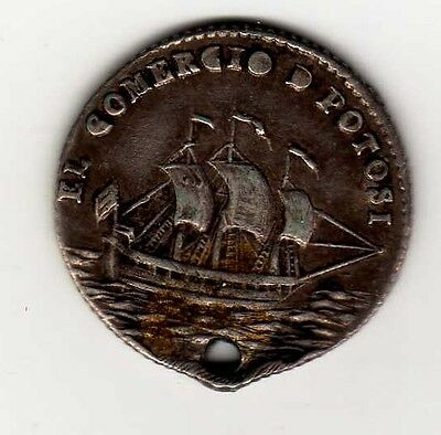 Bolivia proclamation coin: 1 sol, not dated; B132