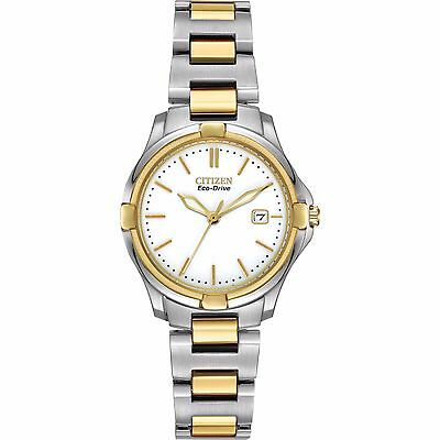Citizen Eco-Drive Women's Silhouette Two Tone 28mm Bracelet Watch EW1964-58A