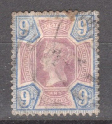 UK-GREAT BRITAIN-1887/1900-VICTORIA- 9 P- BRUN &VIOLET-Y&T nr101-used stamp