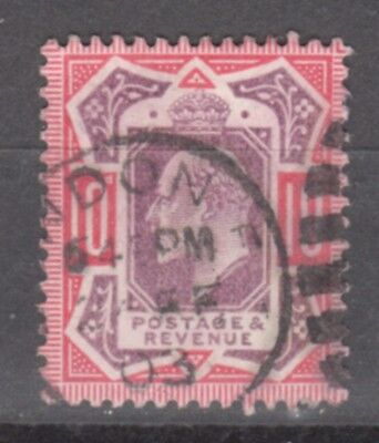 UK-GREAT BRITAIN-1902/1910-EDWARD VII- 10 P- RED &VIOLET-Y&T nr.116-used stamp