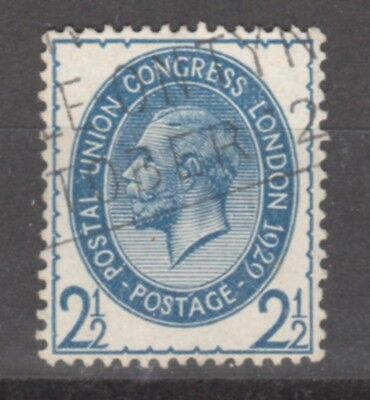 UK-GREAT BRITAIN-1929- EDWARD VII- 2 1/2 SH.- BLUE-Y&T nr.182-used stamp