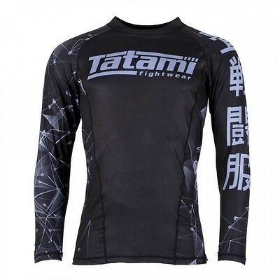 Tatami Mens Essentials BJJ Rash Guard Long Sleeve Jiu Jitsu Compression MMA