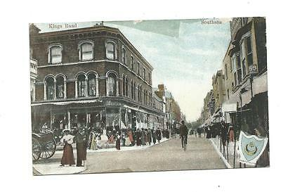 Hampshire: Portsmouth: Southsea: Kings Road 1916 Postcard