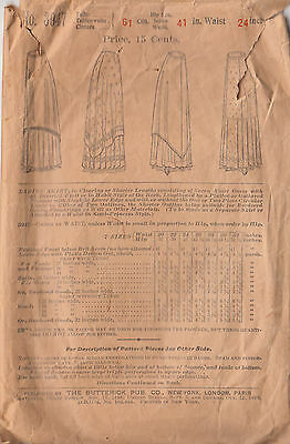 1899 Unusual Pleated or Flounced Underskirt Draped Overskirt Woman's Pattern