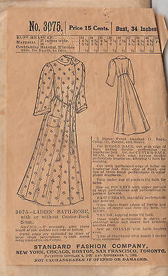 1899  Antique Woman's Bathrobe Pattern Mail Order Envelope