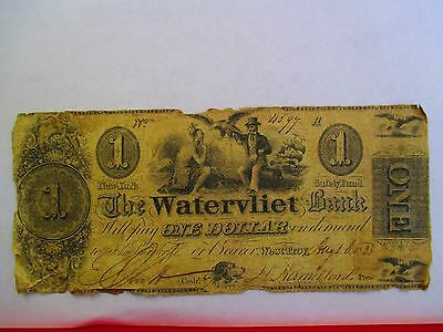 The Watervliet Bank of West Troy, NY  $1, $2, & $3 Obsolete Notes