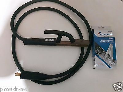 New Tweco 500A HD Electrode Holder cable with LC40connector 300A Ground Clamp