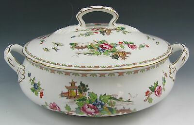 Crown Staffordshire China PAGODA Round Covered Vegetable Bowl(s) EXCELLENT