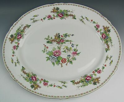 "Crown Staffordshire China PAGODA 15 7/8"" Oval Serving Platter EXCELLENT"