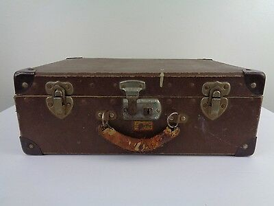 Vintage Herculean Hard Doll Trunk Fibre Fitchburg Mass. General Fibre Products