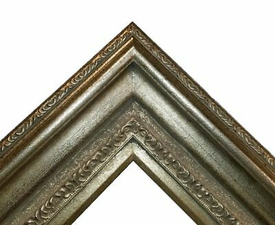 "5"" WIDE Fancy Silver Oil Painting Wood Picture Frame 446AS"