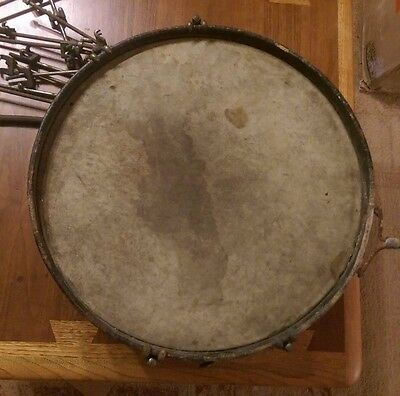 "Conn Dupont Drum Silver Plated Antique Snare 1880-1900 7"" x 16 1/2"""
