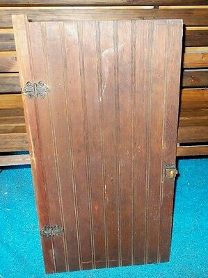 Vintage Architectural Salvage Beadboard Cupboard Cabinet Door Wall Art Decor